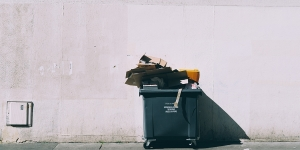 Dumpster photo from Unsplash